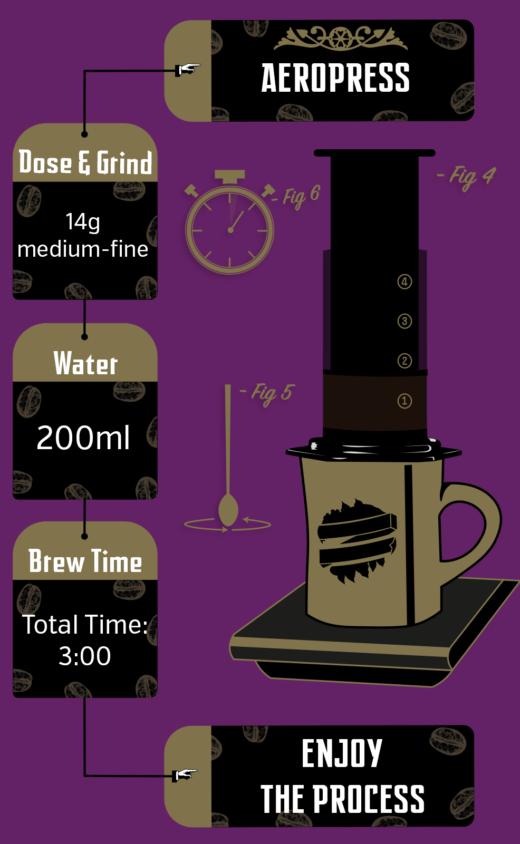 MP Orange Honey Brew Recipe Aeropress Illustrated